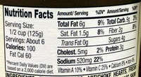 Tomato Basil Sauce - Nutrition facts