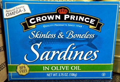 Skinless & Boneless Sardines in Olive Oil - Product