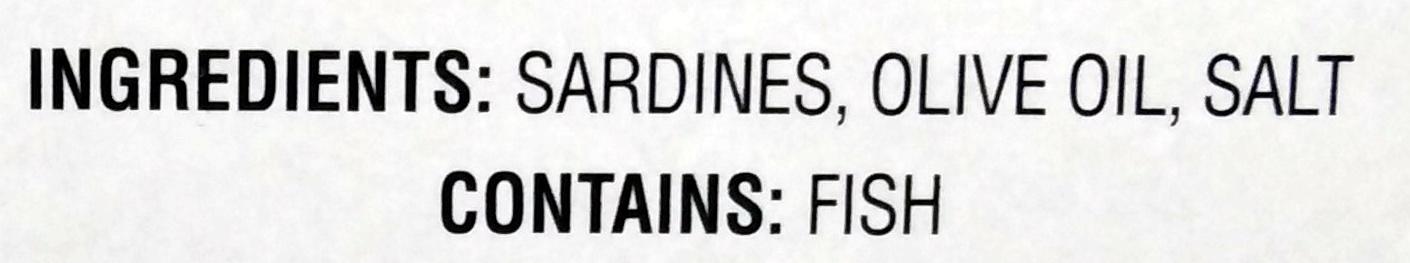 Skinless & Boneless Sardines in Olive Oil - Ingredients