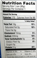 Skinless & Boneless Sardines in Olive Oil - Nutrition facts