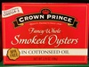 Fancy whole Smoked Oysters in cottonseed oil - Product