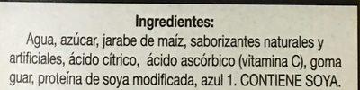 Icee congeladas - Ingrédients - es