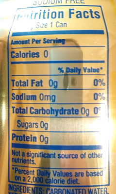 La croix Lemon - Nutrition facts
