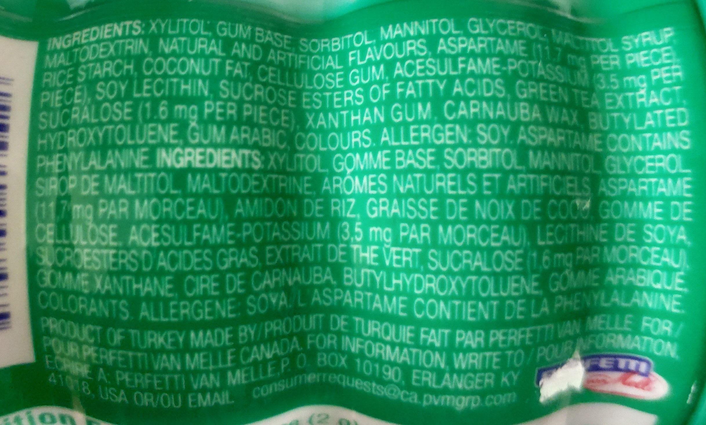 Mentos Pure fresh sugar free - Ingrédients - en