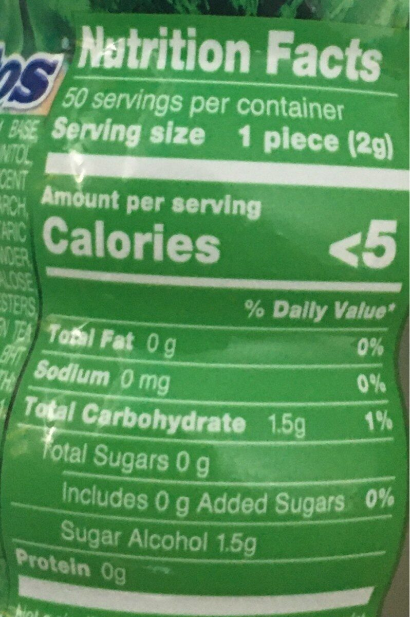 Mentos pure fresh - Nutrition facts - fr