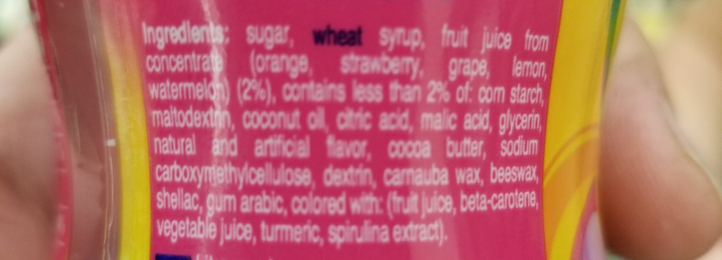 Mentos chewy mints - Ingredients - en