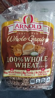 100% Whole Wheat Grains Bread - Product