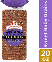 Organic sweet baby grains thin sliced bread - Product - en