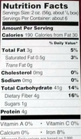 Penne organic brown rice pasta - Nutrition facts - en