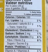 Thin stackers - Nutrition facts - fr