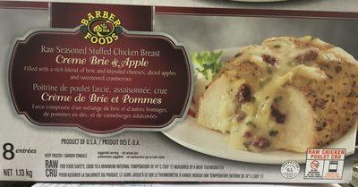 Poitrine de Poulet farcie, assaisonnée avec Crème de Brie et Pommes (à cuire) - Product - fr