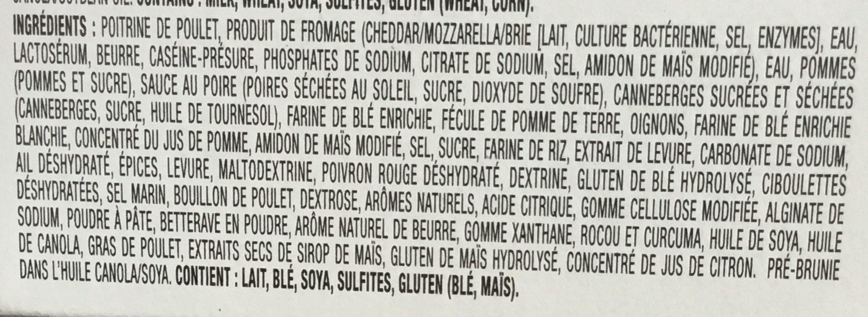 Poitrine de Poulet farcie, assaisonnée avec Crème de Brie et Pommes (à cuire) - Ingredients - fr