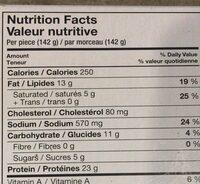 Raw seasoned stuffed chicken breast - Nutrition facts - fr