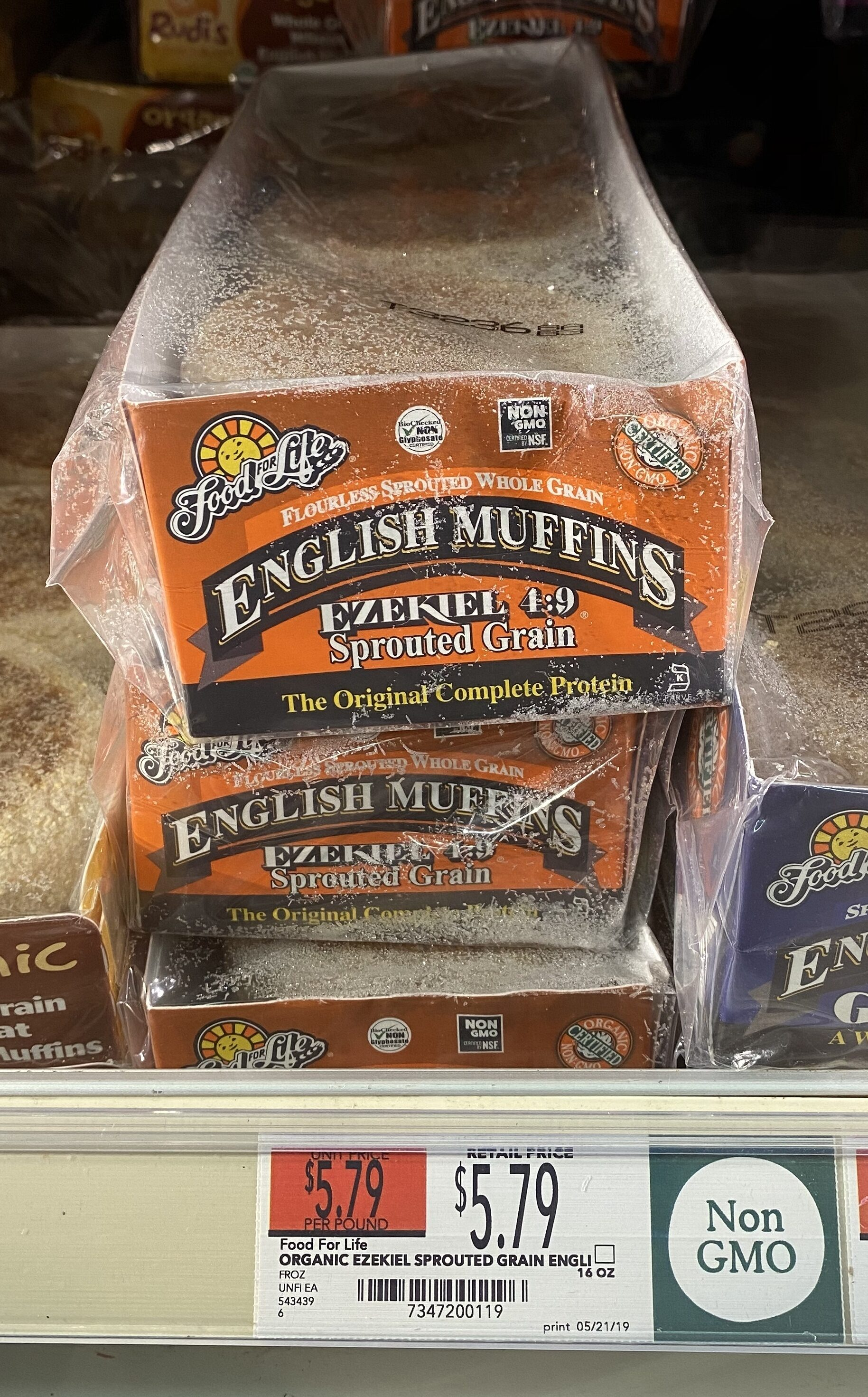Food for life, ezekiel 4:9, sprouted grain english muffins - Product - en