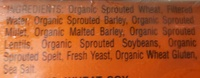 Sprouted Grain English Muffins - Ingredients