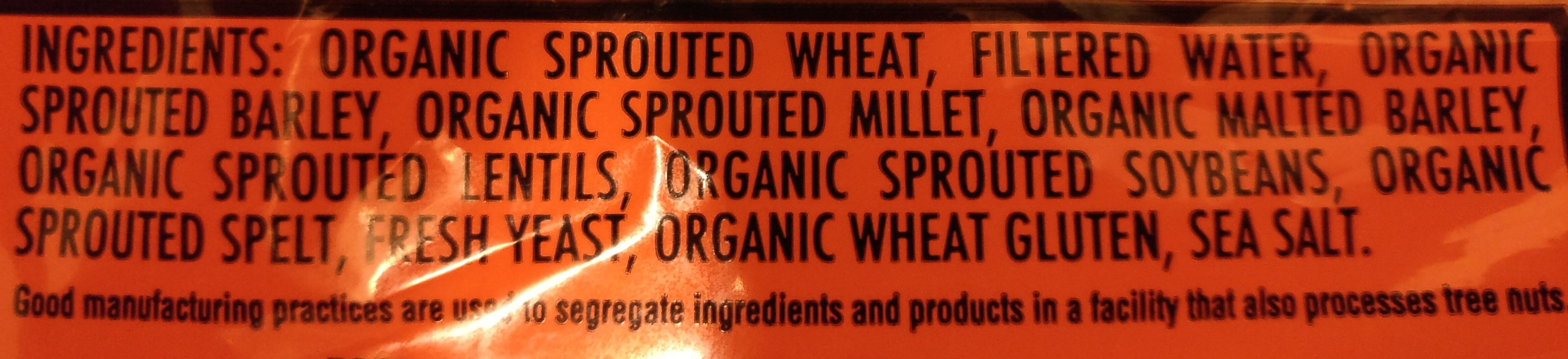 Sprouted 100% whole grain bread - Ingredients - en