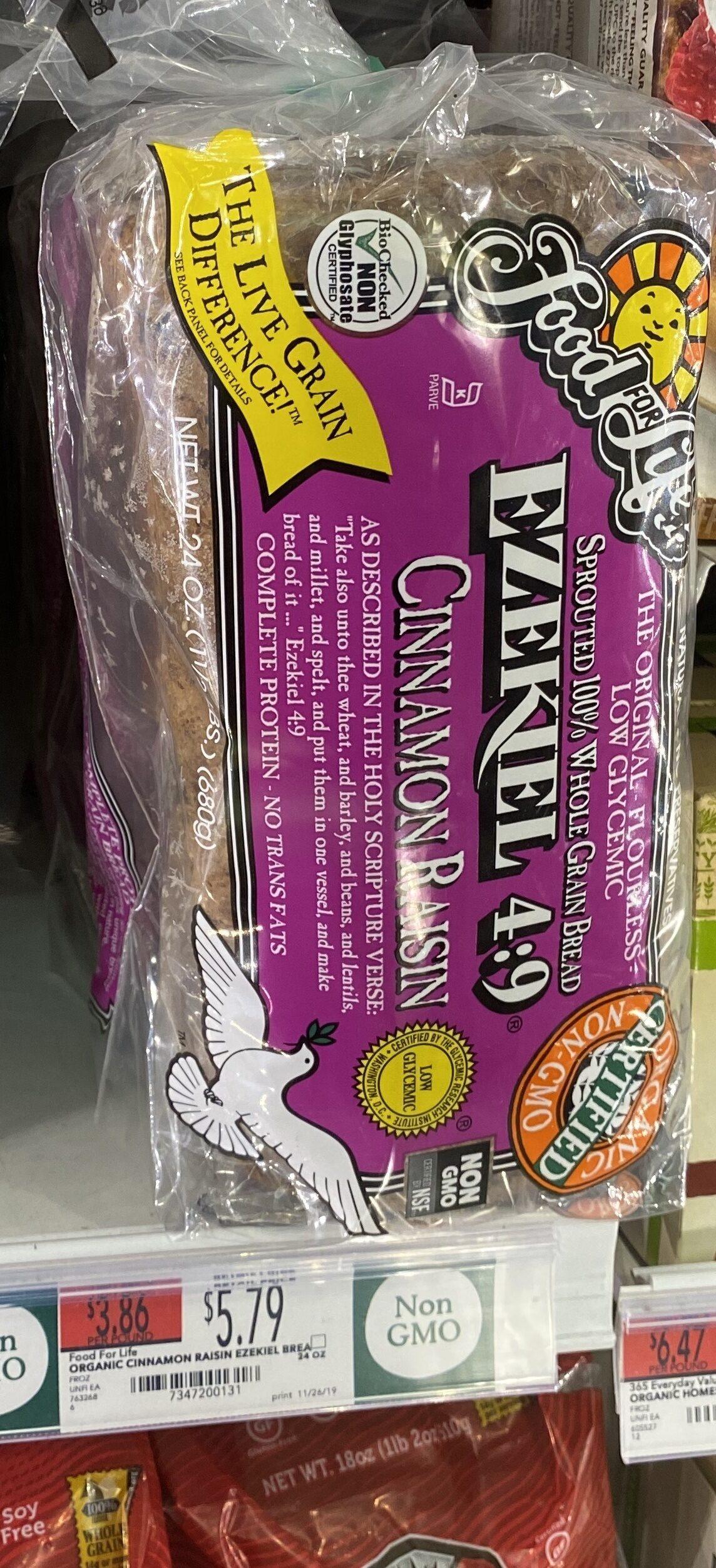Ezekiel 4:9, Low Sodium Sprouted Grain Bread, Original - Product - en