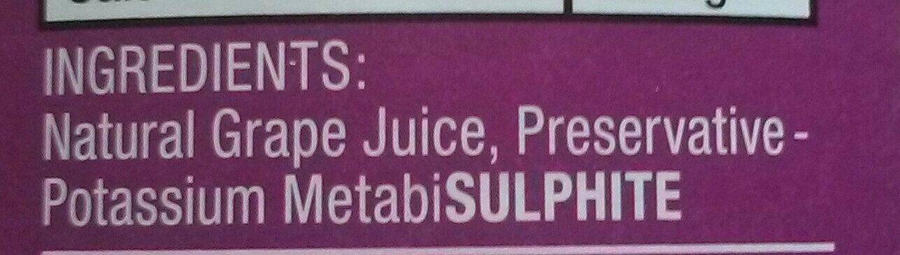 Concord grape juice - Ingrédients - en