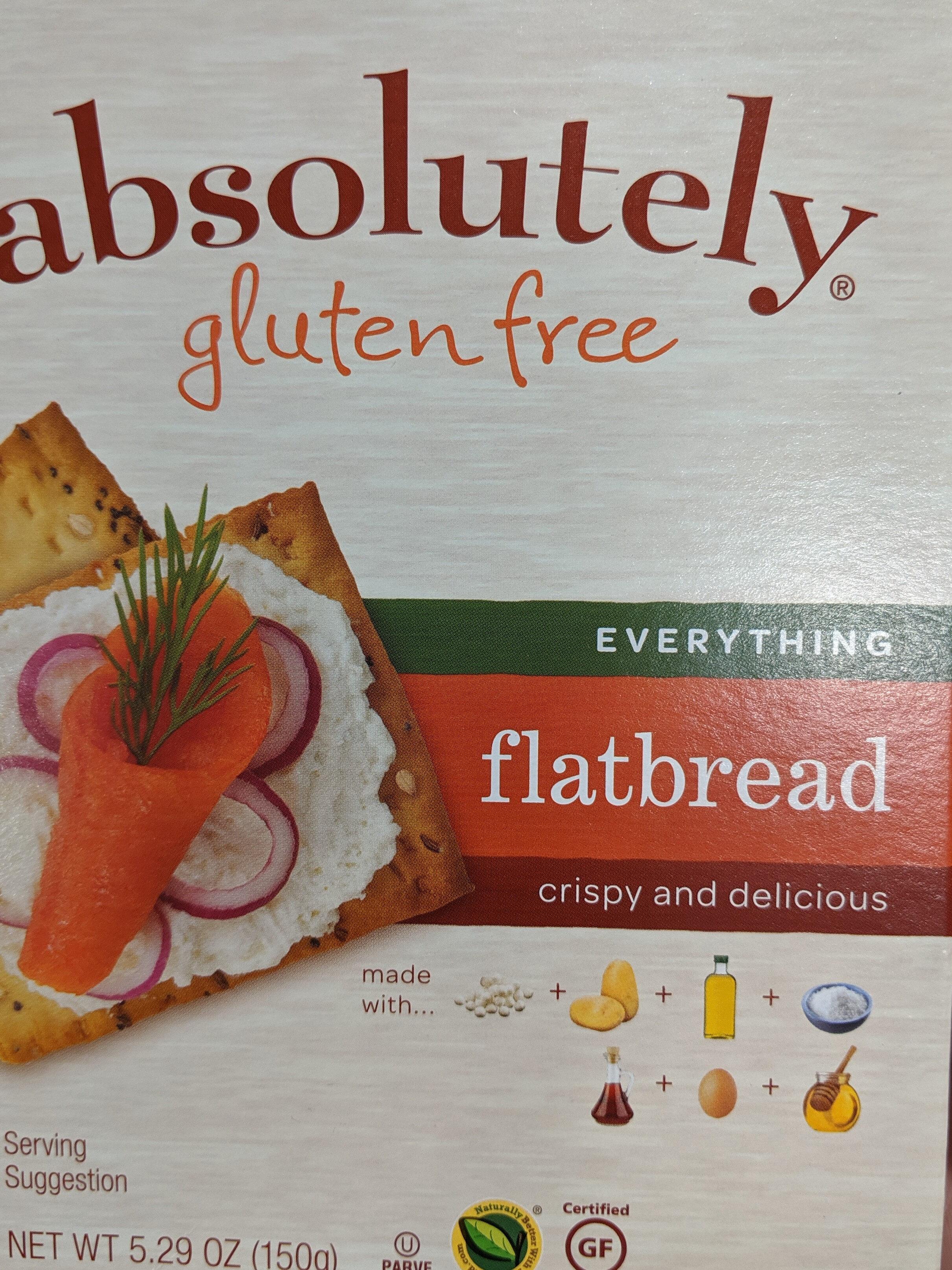 Absolutely gluten free, flatbread - Product - en