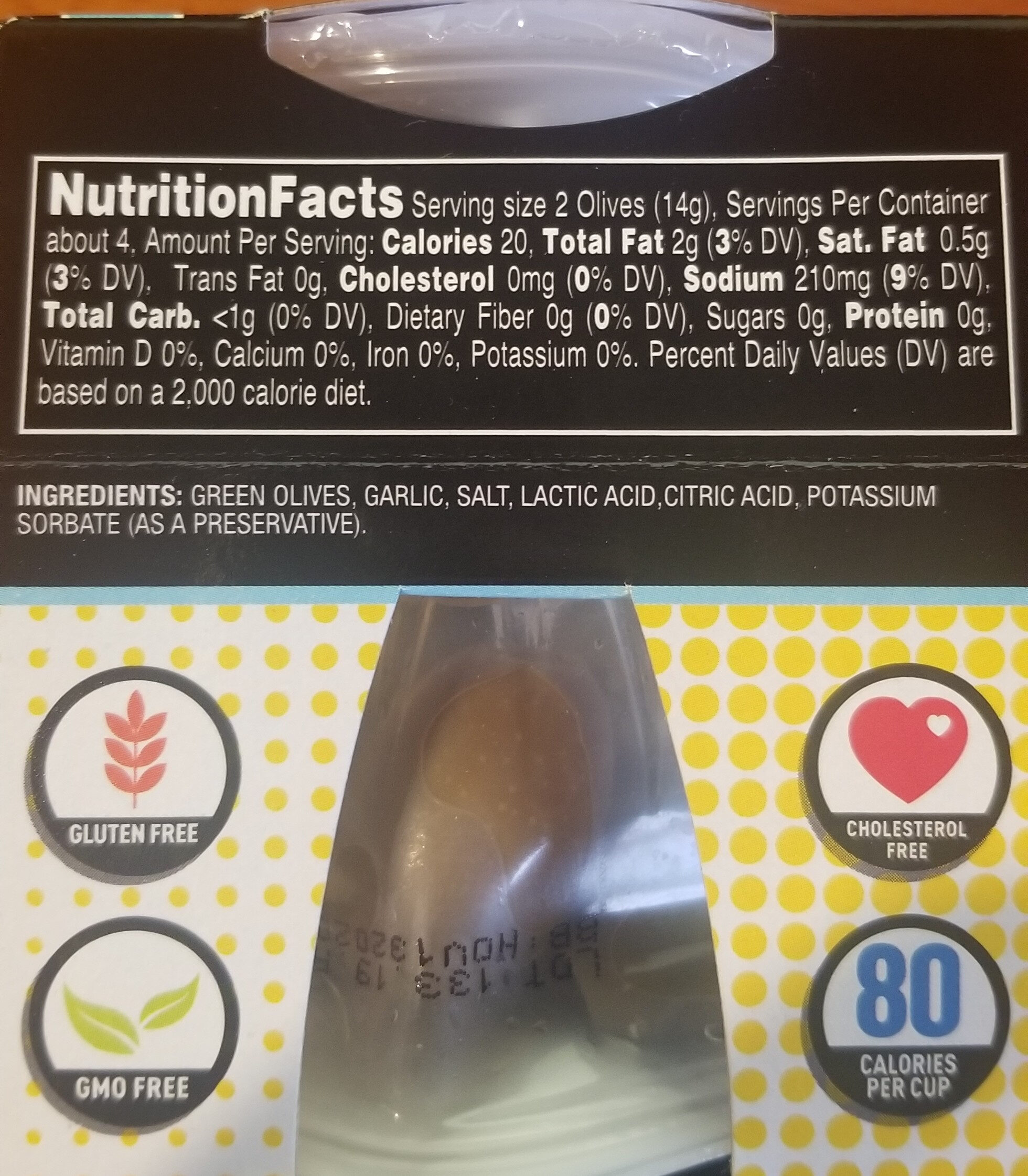 Gnarly Garlic Stuffed Olives - Nutrition facts - en