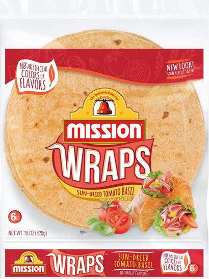 Wraps sun-dried tomato basil - Product - en