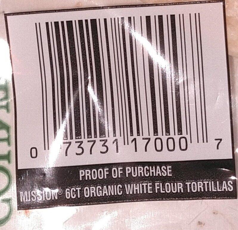 Organics Flour Tortillas Soft Taco - Ingredients - en