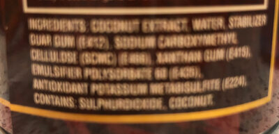 Coconut milk - Ingredients