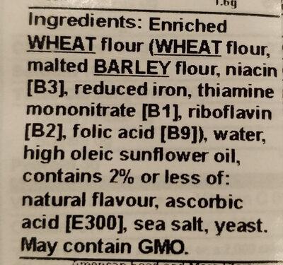 Pita chips sea salt - Ingredients