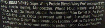 Whey Protein - Cookies n Creme - Inhaltsstoffe