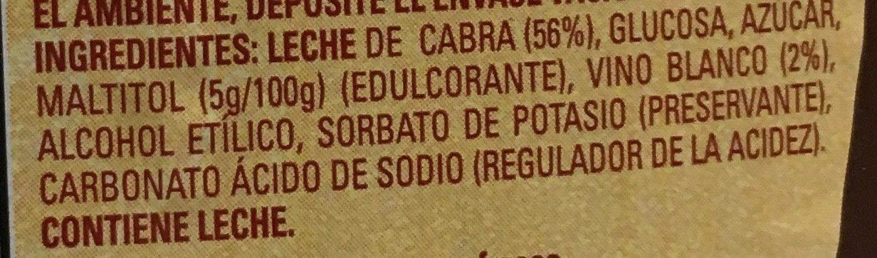 Cajeta - Ingredients - es