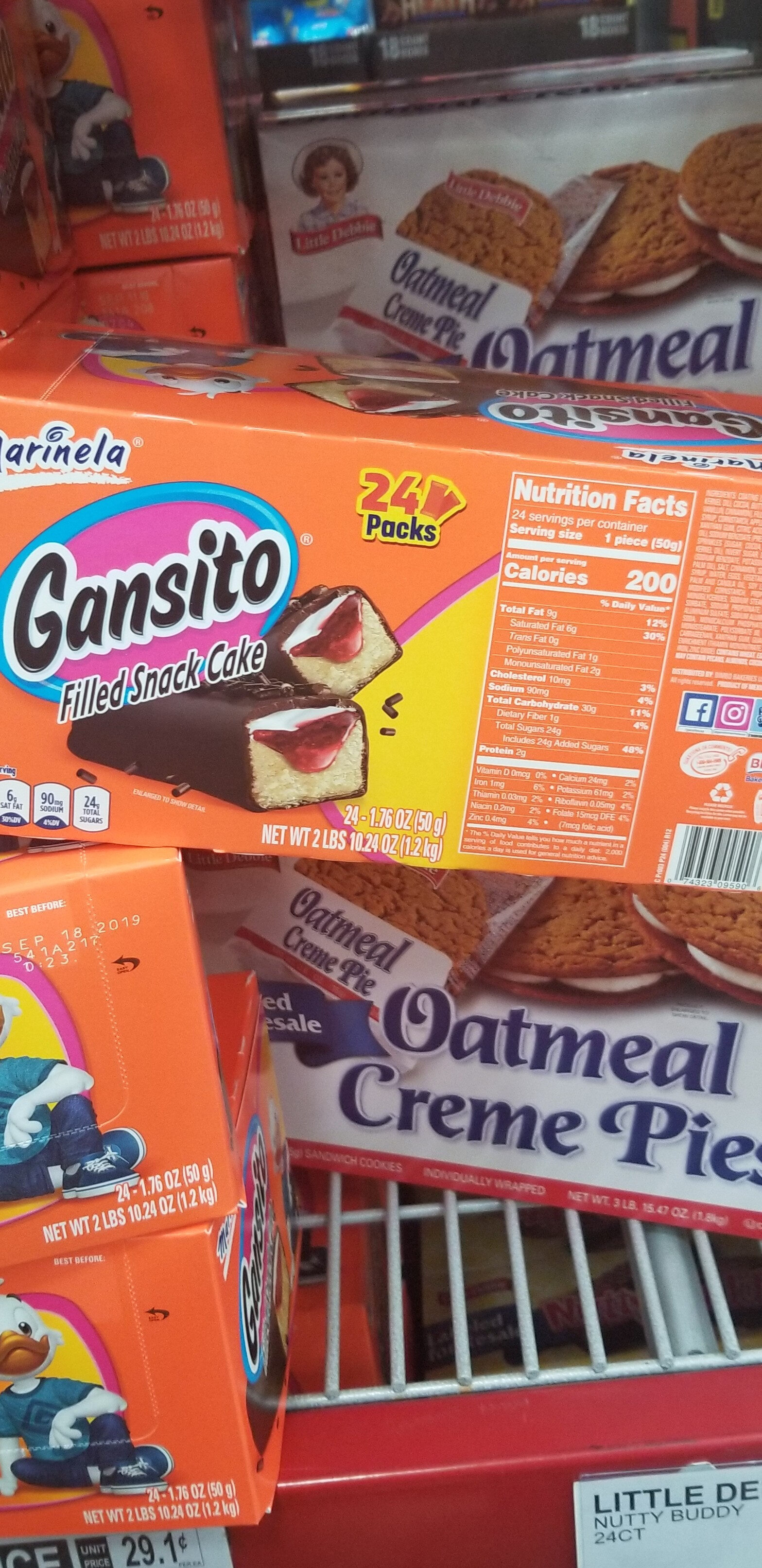 Gansito, 24 Filled Snack Cakes - Product