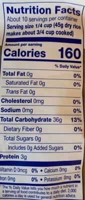 Arborio Rice - Informations nutritionnelles - en