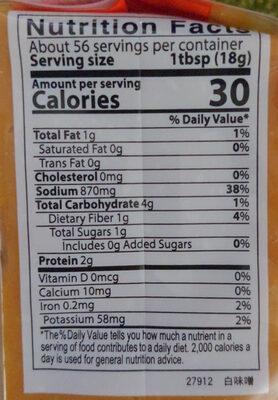 Soybean paste - Nutrition facts - en