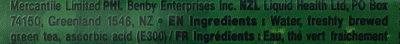 Japanese green tea - Ingredients