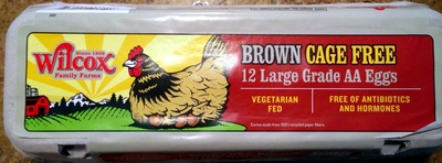 12 large grade cage free AA eggs - Product
