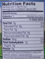 Crushed Garlic - Nutrition facts