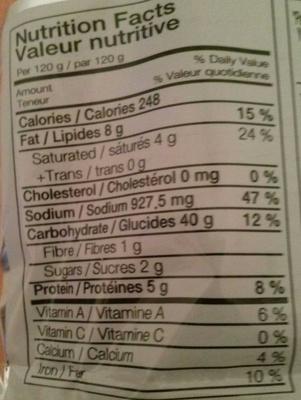 Sogokimyun - Nutrition facts