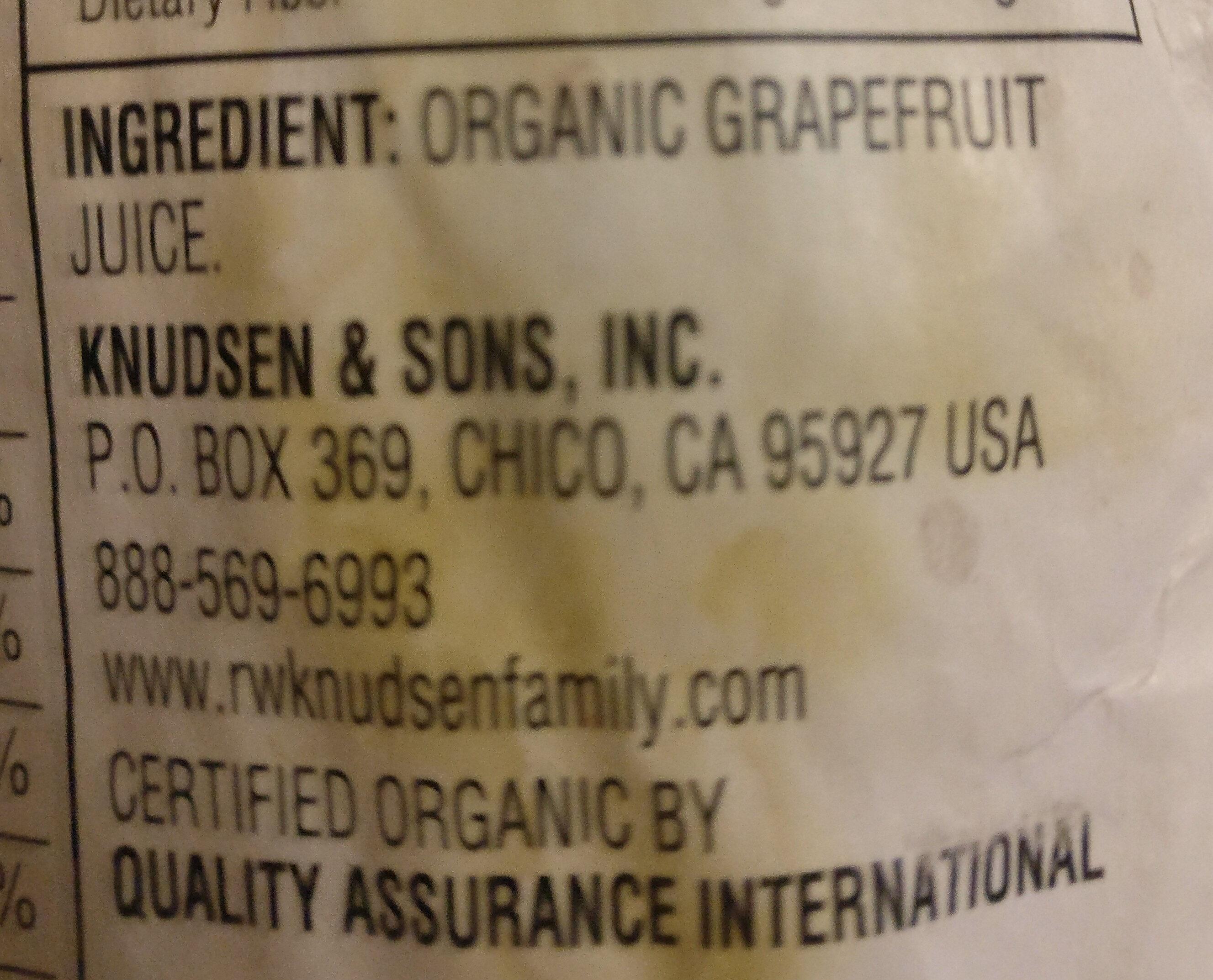 Organic grapefruit juice - Ingrediënten - en