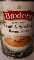 Soupe aux lentilles et bacon fumé - Produit - fr