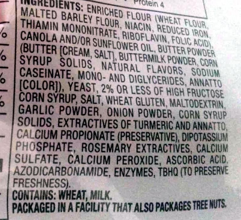 Butter & Garlic Croutons - Ingredients