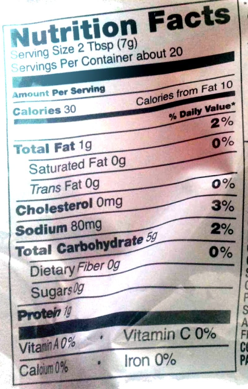 Butter & Garlic Croutons - Nutrition facts