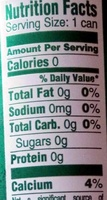 Perrier lime - Nutrition facts