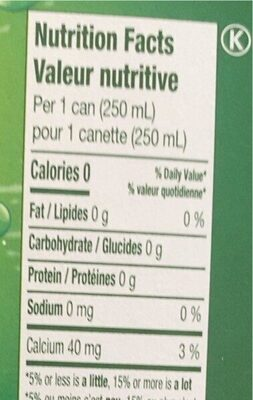 Perrier - Nutrition facts - fr