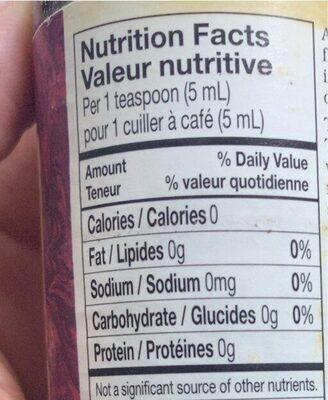Liquid smoke - Informations nutritionnelles - en