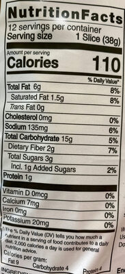 Tapioca Loaf - Nutrition facts - en