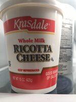 Krasdale Whole Milk Ricotta Cheese - Product