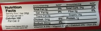 Raspberry Licorice - Nutrition facts