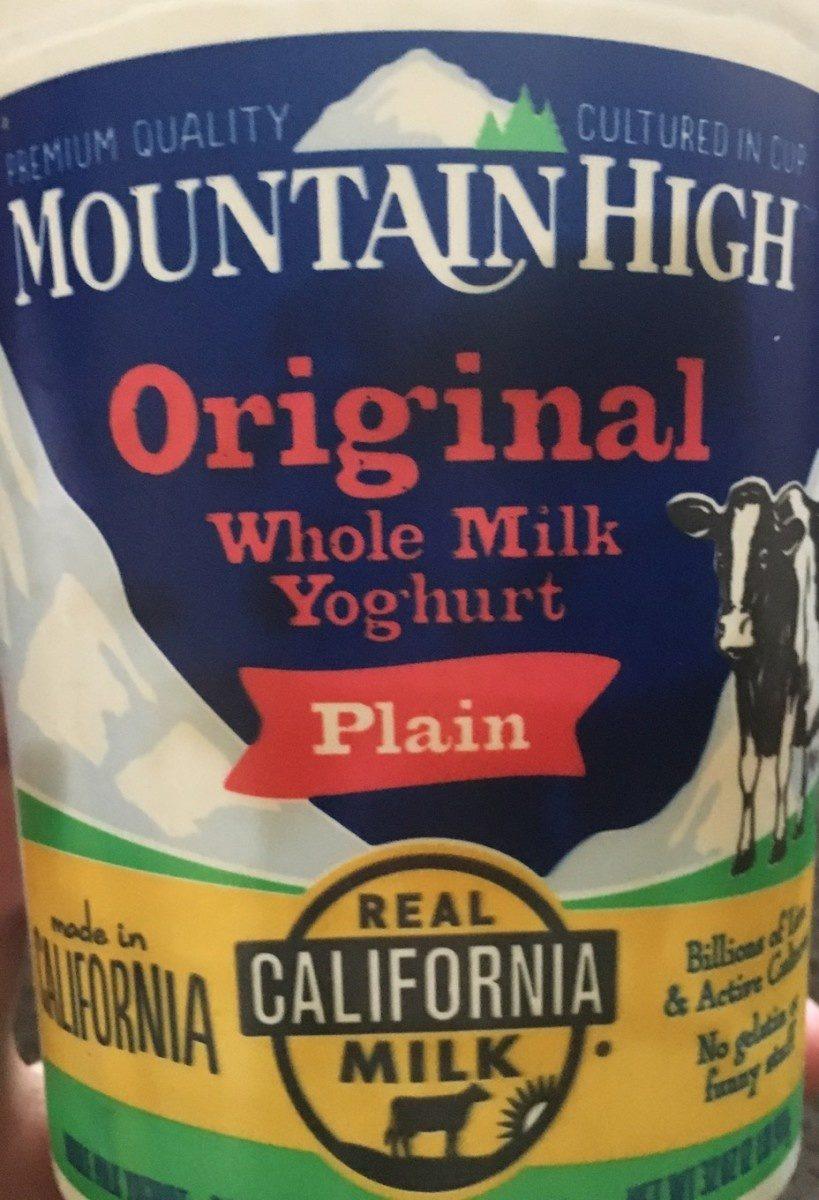 Original whole milk yoghurt - Produit