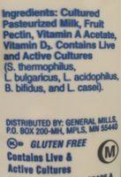 Original whole milk yoghurt - Ingrédients