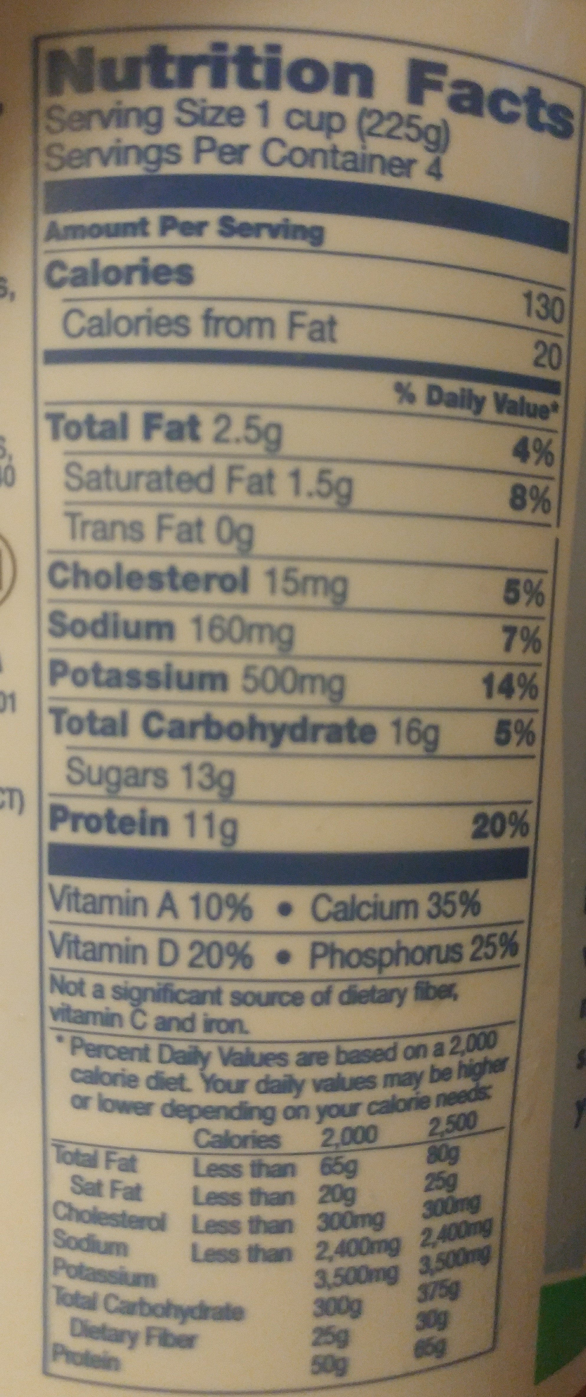 Mountain High Low Fat Plain Yogurt - Nutrition facts - en